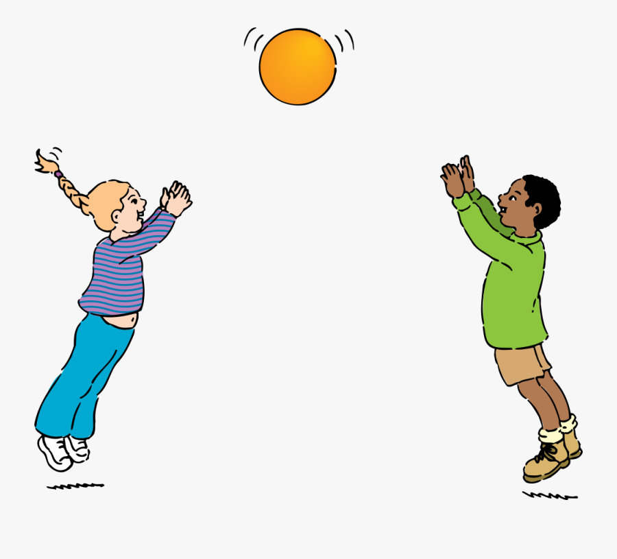 Throw And Catch A Ball , Free Transparent Clipart.
