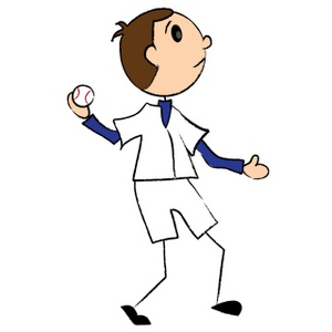 Boy Throwing Ball Clipart.