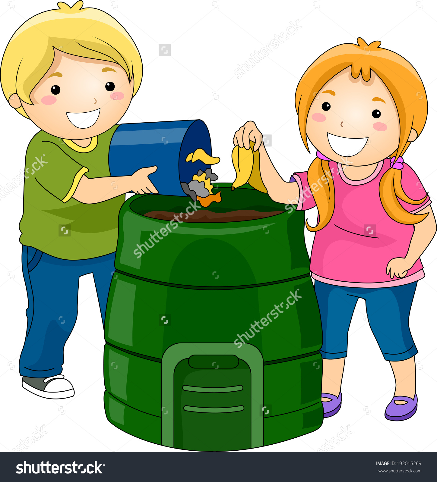 Kids Trash Clipart.