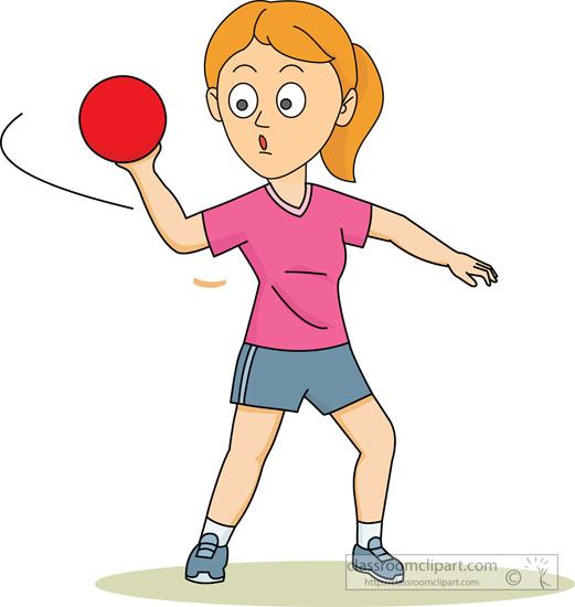 Throw a ball clipart.