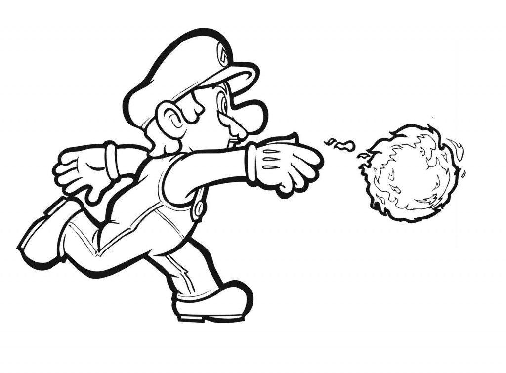 Mario Clipart Black And White