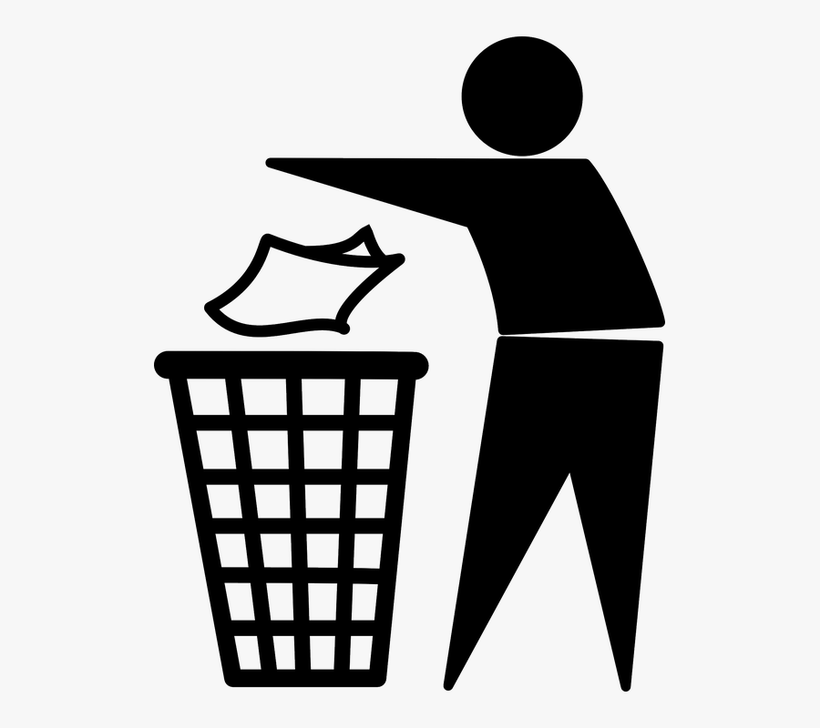 Throw Garbage In Dustbin Png.