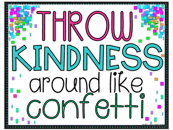 Throw Kindness Like Confetti Worksheets & Teaching Resources.