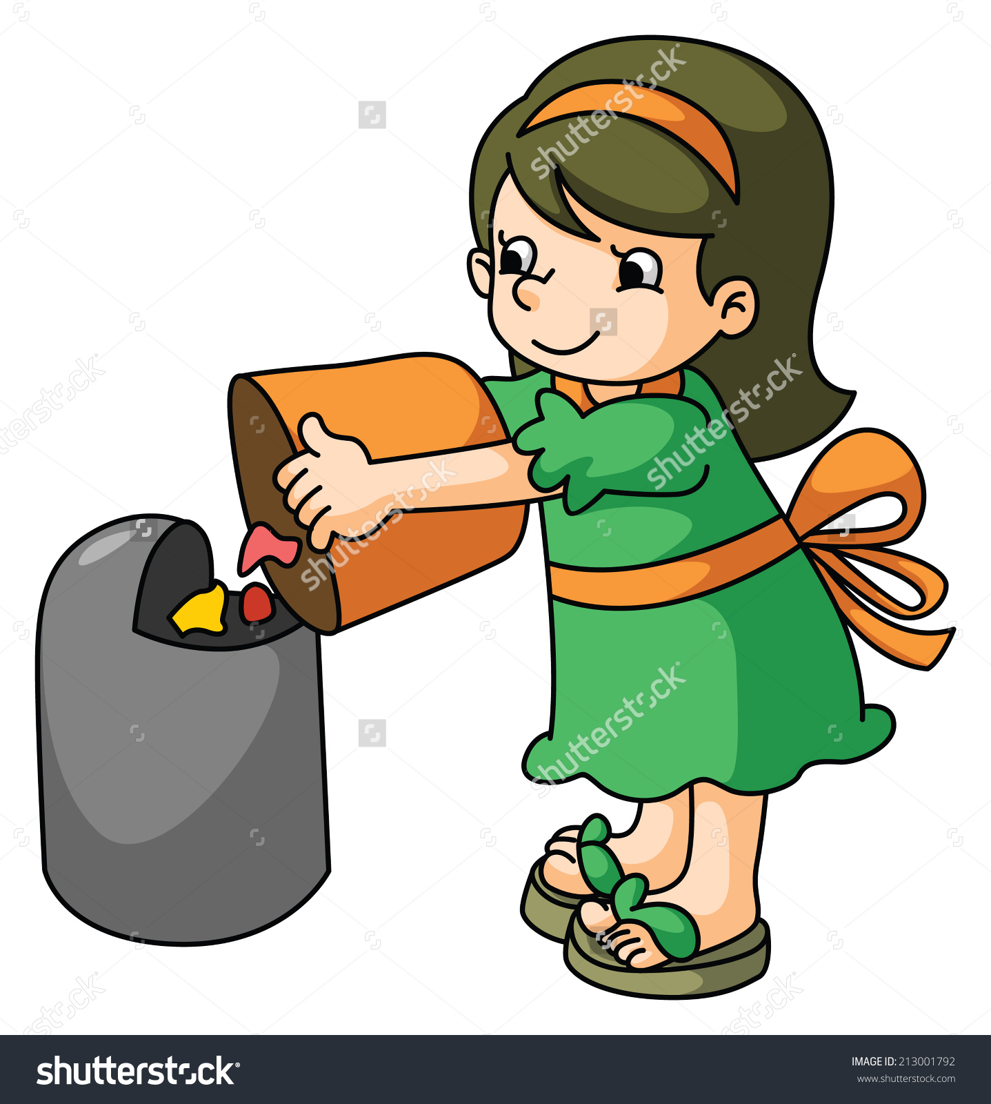 Throwing garbage clipart.