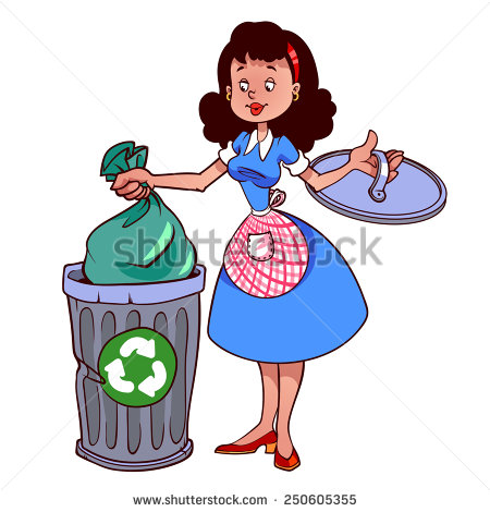 Throw Garbage In Dustbin Clipart.