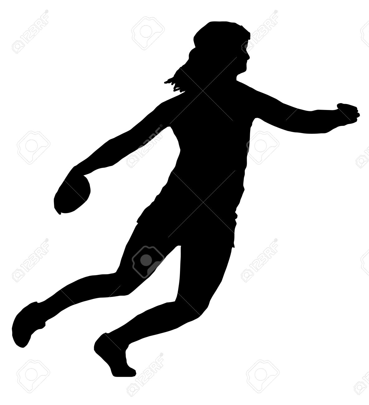 Girl Discus Thrower Clipart.