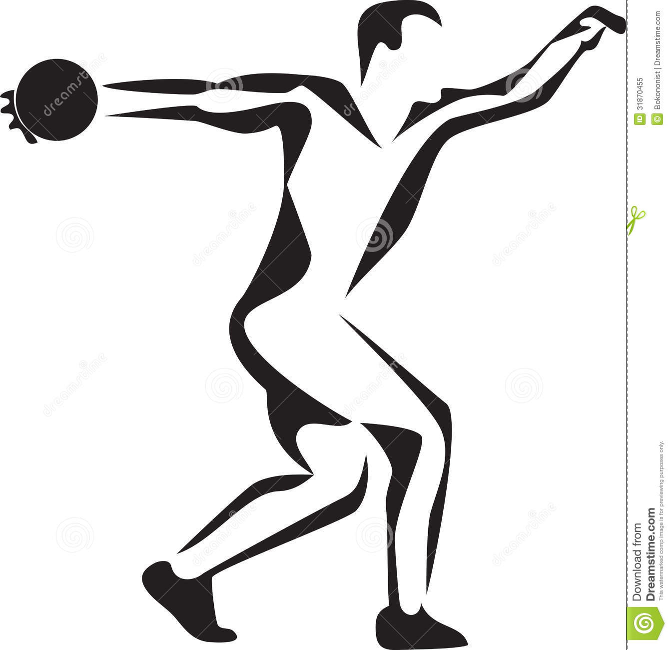 Clip Art Shot Put Thrower Clipart.
