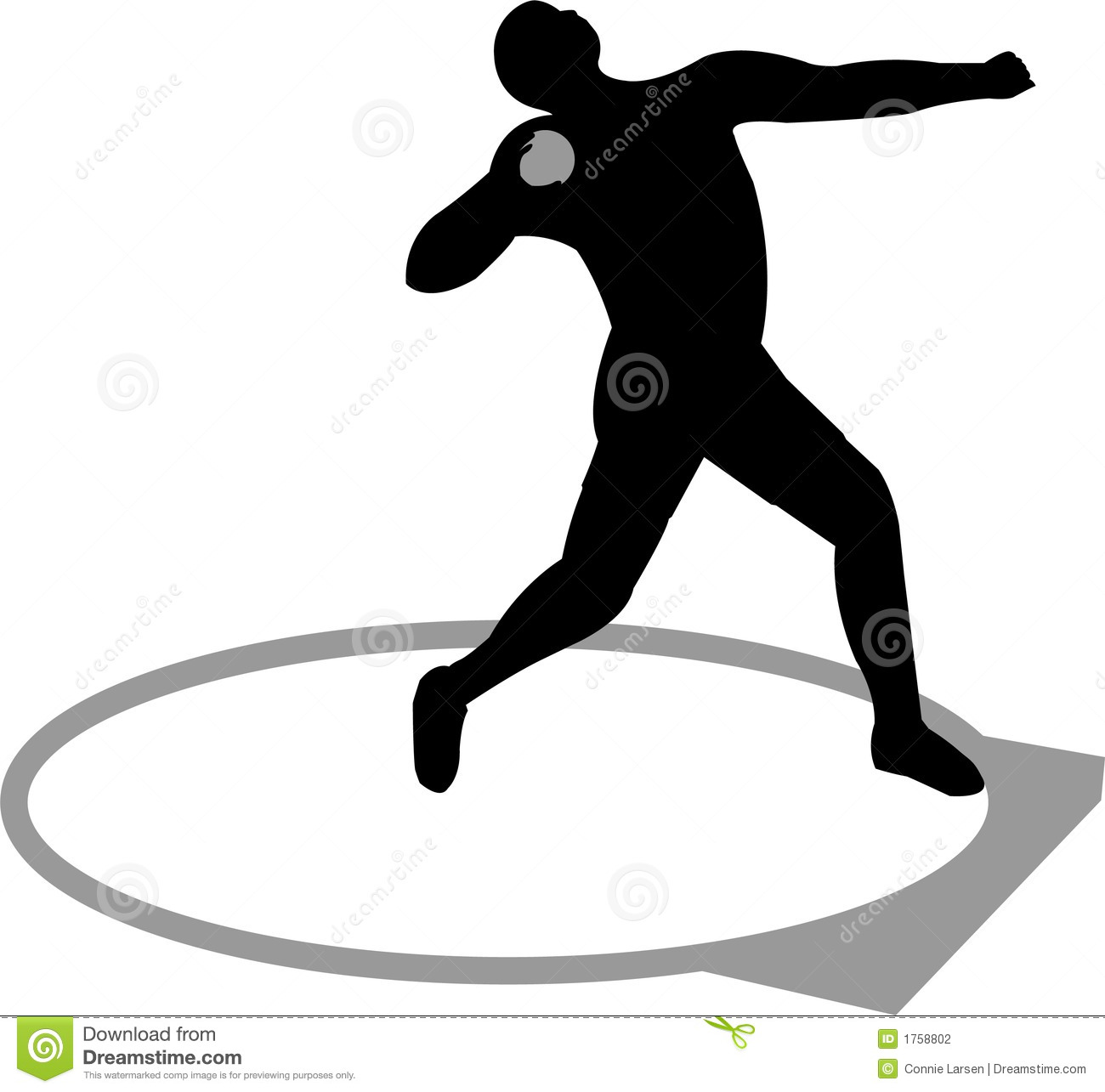 Clip art shot put thrower cliparts.