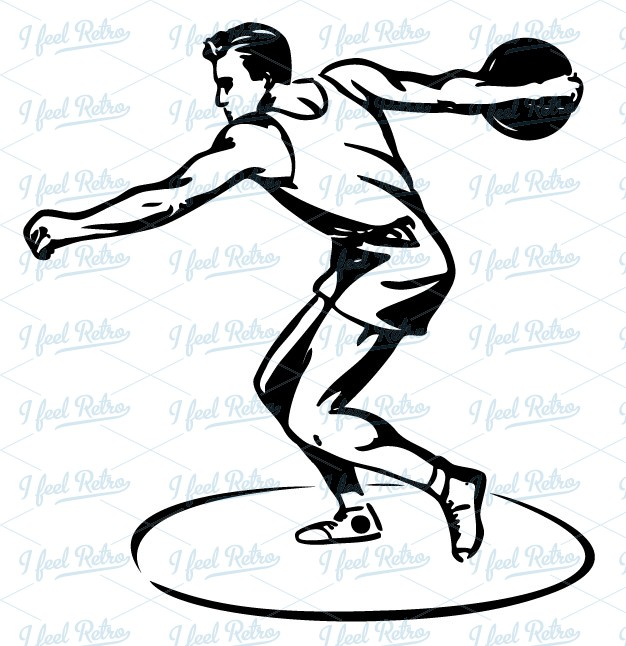 Discus Throw Clipart.