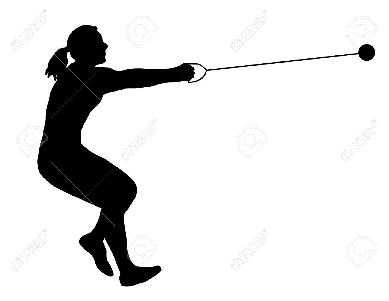 Hammer Throw Clipart.