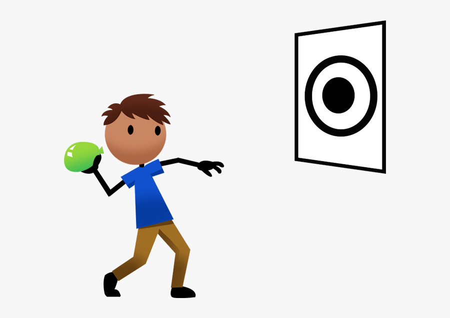 Throwing A Ball At A Target , Free Transparent Clipart.