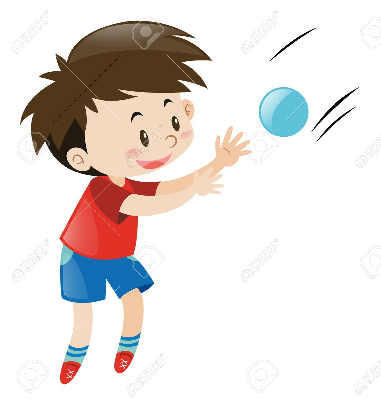 Kid Throwing Ball Clipart.
