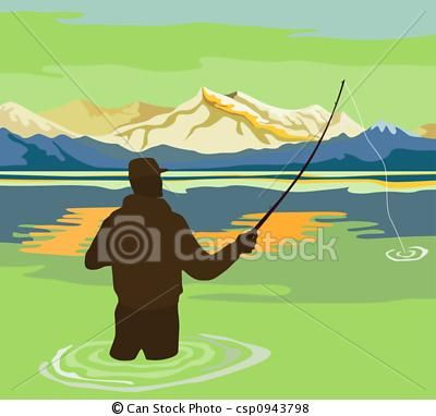 fly fishing clip art.