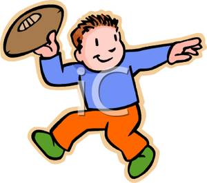 Throwing Football Clipart.