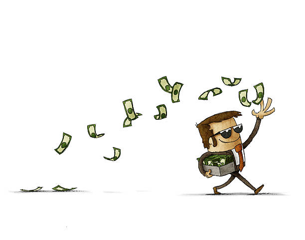 Throwing Money Clipart.