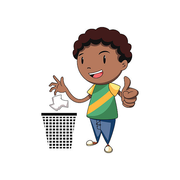 Throwing Trash Clipart.