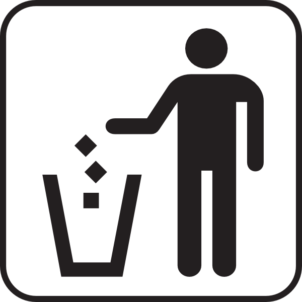 Throwing Away Trash Clipart.