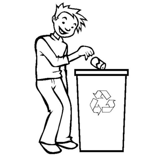 Throwing garbage clipart black and white 4 » Clipart Station.