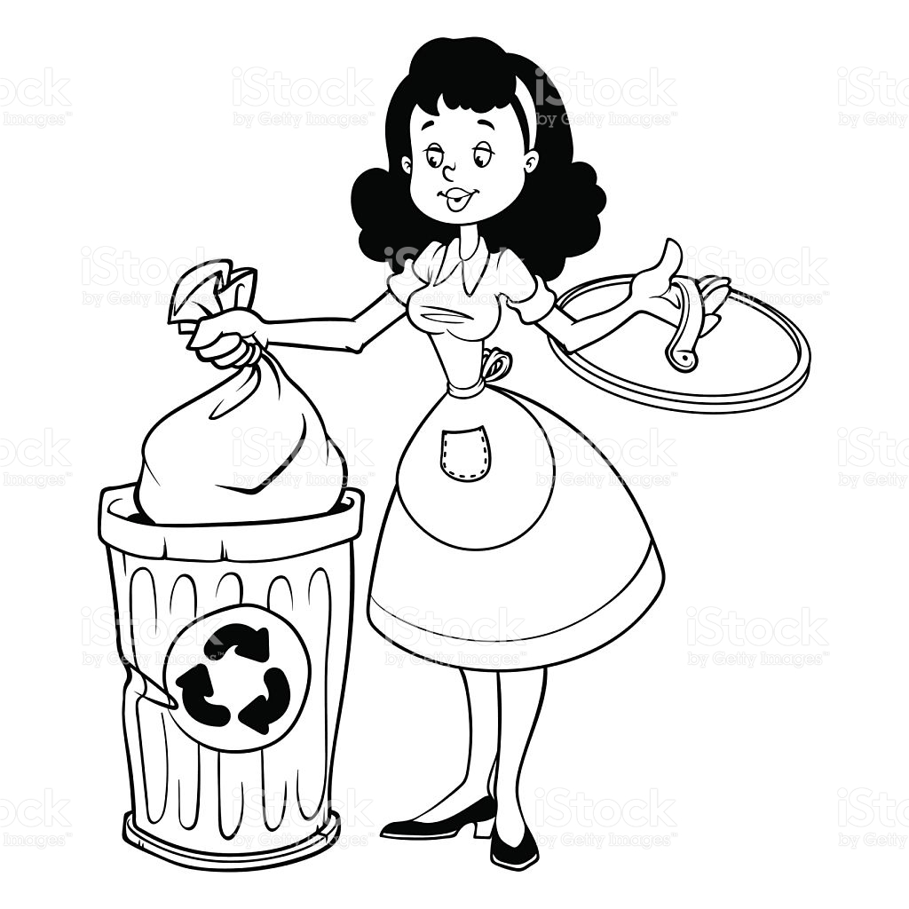 Throwing Garbage Clipart Black And White.