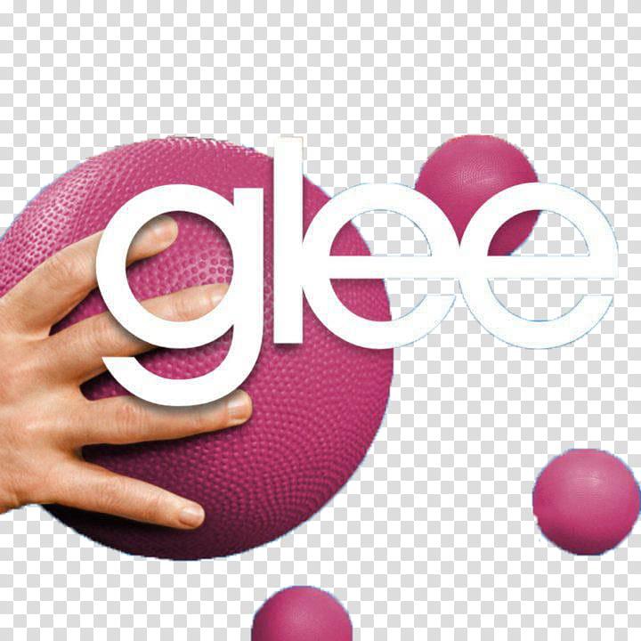 Glee dodgeball, white glee text transparent background PNG.