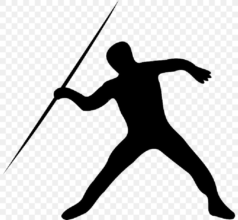 Javelin Throw Vector Graphics Track And Field Athletics Clip.