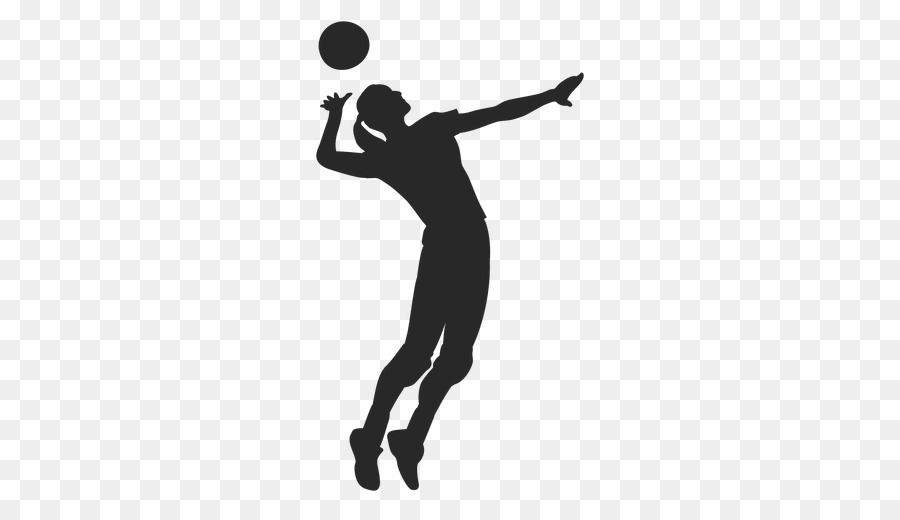 Volleyball Silhouette Shadow Clip art.