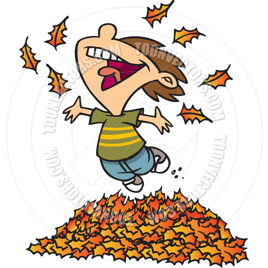 Jumping In Leaves Clipart.