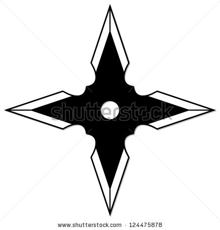 Throwing Star Vector Clipart.