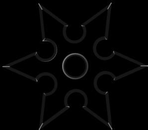 Black Throwing Star Clip Art at Clker.com.