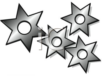 Japanese Throwing Stars Clipart.