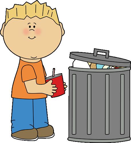 Throw trash away clipart.