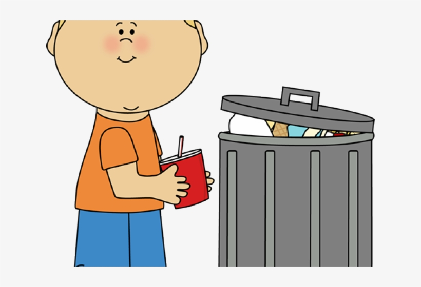 Litter Clipart Proper Throwing Garbage.