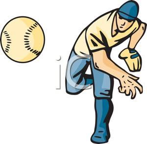 Baseball Being Thrown Clipart.