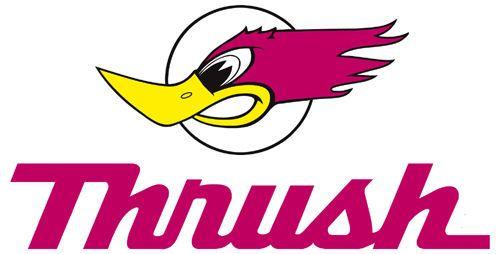 Thrush mufflers Logos.