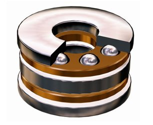 Thrust Ball Bearing With Raceway 708744, 8746 For Axial Load in.