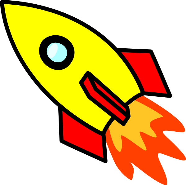 Clipart of rockets.