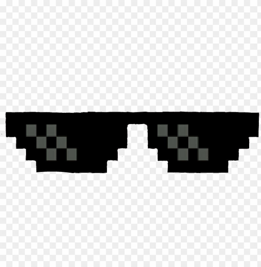 thug life glass PNG image with transparent background.