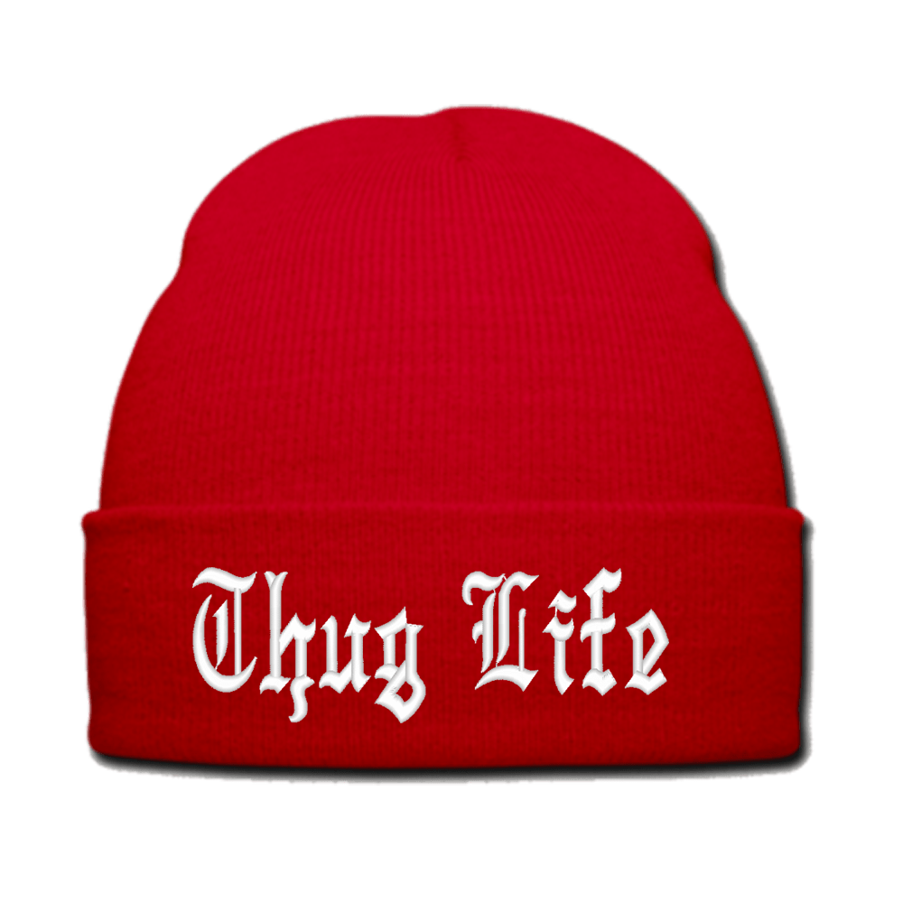 Thug Life Hat Red transparent PNG.