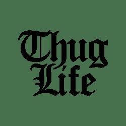 Thug Life Text Logo transparent PNG.