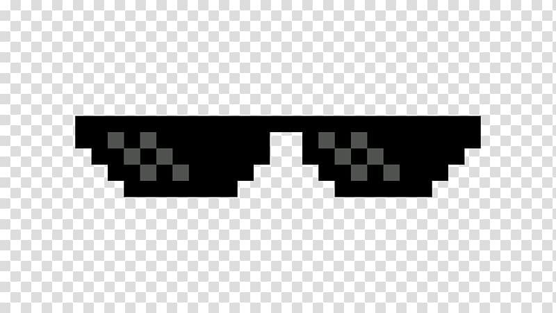 Thug Life sunglasses illustration, Aviator sunglasses, like.