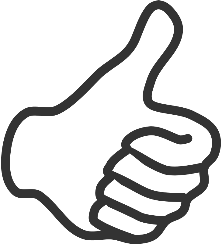 Free Clipart: Thumb up.
