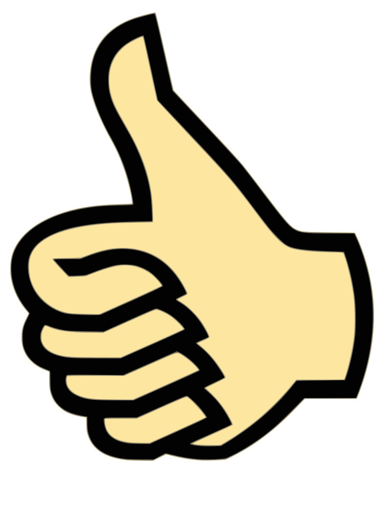 Thumbs up clipart free images.