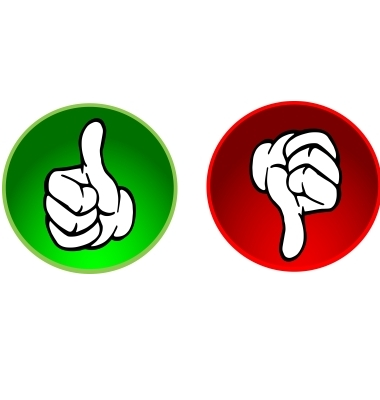 Clipart Of Thumbs Up And Thumbs Down.