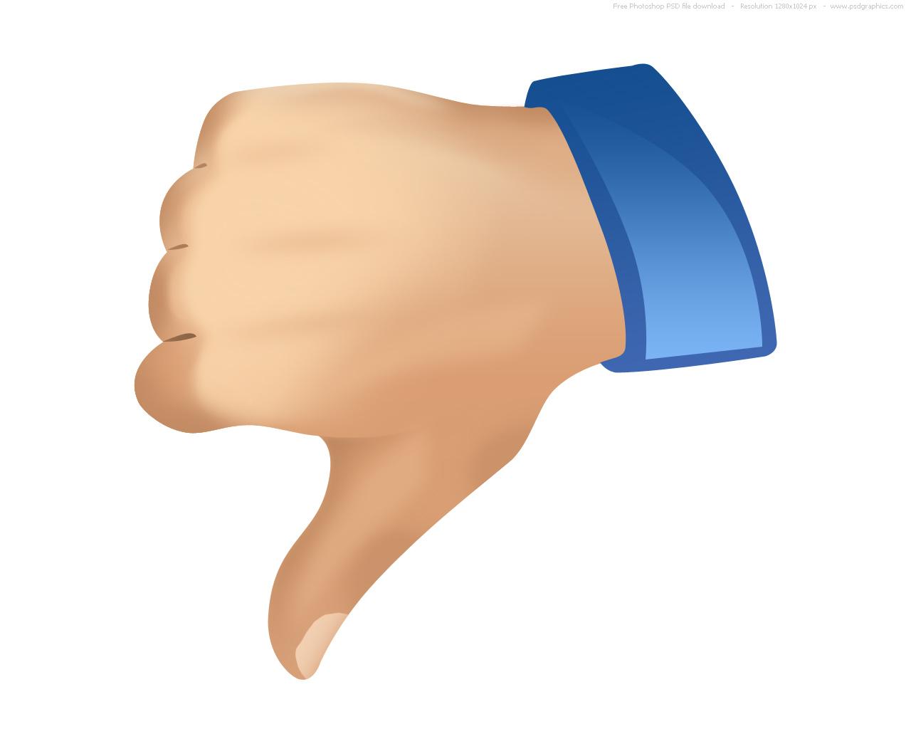 Thumbs Down Image.