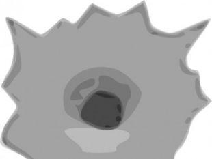 Bullet hole vector.