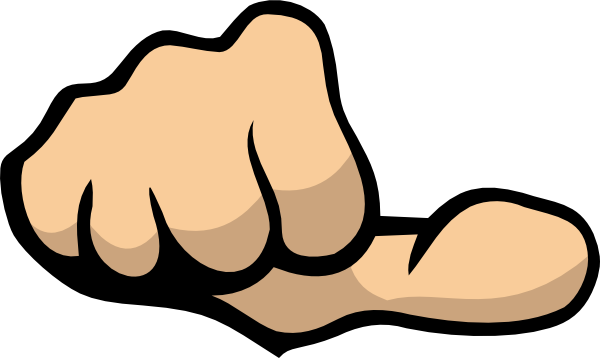 Thumbs Pointing To Self Clipart.