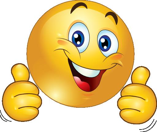 Thumbs up emoji clipart.