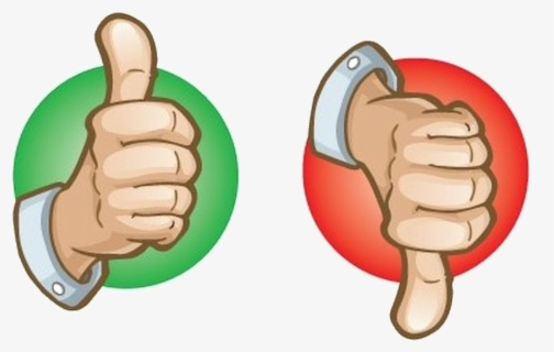 Free Thumbs Up Thumbs Down Clip Art with No Background.