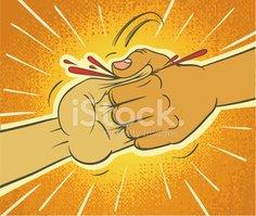 Thumb War Victory Stock Vector.