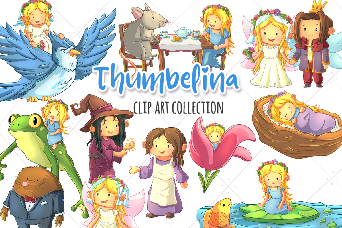 Thumbelina Fairy Tale Clip Art Collection.